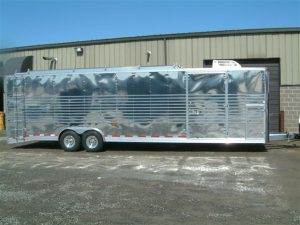 Concession Trailer with Corrugated Stainless Steel Sheeting